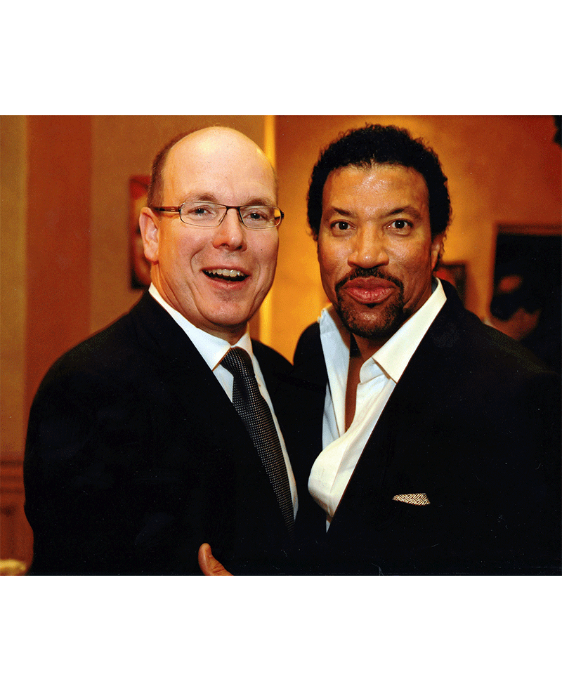 Prince Albert of Monaco with Lionel Richie at The Beverly House® Prince Albert Event